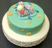 Sheep birthday cake